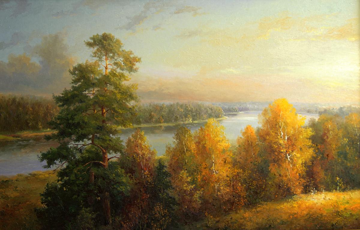 osennij-vecher-na-reke-dvina